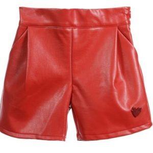 Stylish Girls Leather Shorts